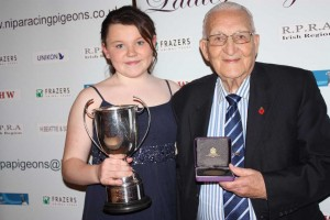 Ellie Marshall from Comber wins Young Fancier of the Year.