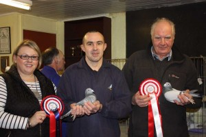 Best in Show W & N Gilbert with Alan Barkley from Kells (r), winner 3 Classes and BOS.