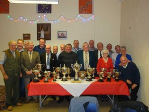 Ballylesson members at prize presentation.