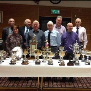 Broughshane officials and top prize-winners.
