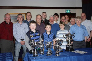 Officials and prize winners at the Cullybackey Dinner in the Adair Arms Hotel in Ballymena.