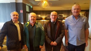 NIPA officials at the meeting with Dublin Airport Authority. From (l) Sam Briggs, Fred Russell, Malcolm Livingstone, and Jim Ramsey.