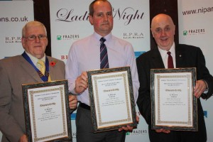 Gary Benson in the middle, three Bronze Diploma's presented at NIPA Ladies Night.