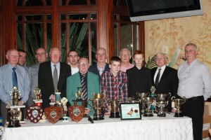 Officials and top prize-winners in Ballymena & District HPS.