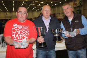 Rouke & Christy winners of BIS & BOS with Show Secretary Mick O'Driscoll.