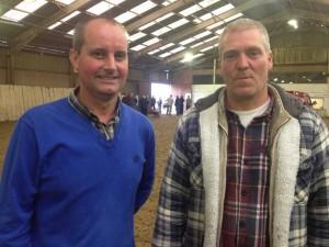 1st & 2nd Open NIPA Portland, Johnny Brush from Banbridge (r) and Gary Benson of Lisburn.