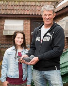 Stuart and Alana Laws with Shane, 1st Open NFC Carentan 8300 birds